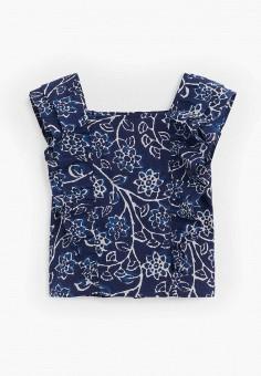 Блуза, Mango Kids, цвет: синий. Артикул: MA018EGJKSZ4.