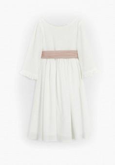 Платье, Mango Kids, цвет: белый. Артикул: MA018EGJRTL6. Девочкам / Одежда / Платья и сарафаны