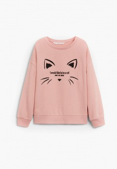Свитшот, Mango Kids, цвет: розовый. Артикул: MA018EGJYRK8.