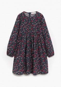 Платье, Mango Kids, цвет: серый. Артикул: MA018EGKEXK3. Девочкам / Одежда / Платья и сарафаны