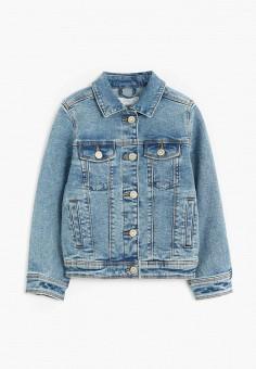 Куртка джинсовая, Mango Kids, цвет: синий. Артикул: MA018EGKIEJ0.
