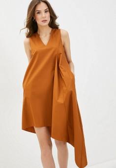Платье, Massimiliano Bini, цвет: коричневый. Артикул: MA093EWIGCG4. Одежда / Платья и сарафаны / Повседневные платья