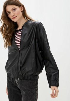 Куртка кожаная, Massimiliano Bini, цвет: черный. Артикул: MA093EWIXRC6. Одежда / Верхняя одежда / Кожаные куртки