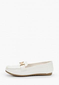 Мокасины, Malien, цвет: белый. Артикул: MA098AWJCMG0. Обувь / Мокасины и топсайдеры