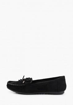 Мокасины, Malien, цвет: черный. Артикул: MA098AWJFFG5. Обувь / Мокасины и топсайдеры