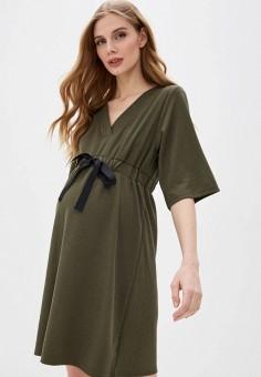 Платье, Mamalicious, цвет: хаки. Артикул: MA101EWHIXP2. Одежда / Платья и сарафаны / Повседневные платья