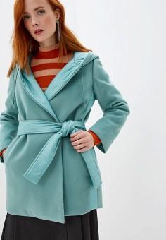 Пальто, Max&Co, цвет: бирюзовый. Артикул: MA111EWGILP1. Одежда / Верхняя одежда / Пальто / Зимние пальто