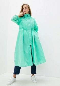 Плащ, Max&Co, цвет: зеленый. Артикул: MA111EWHKZS4. Одежда / Верхняя одежда / Плащи и тренчи