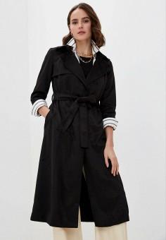Плащ, Max&Co, цвет: черный. Артикул: MA111EWHKZT2. Одежда / Верхняя одежда / Плащи и тренчи