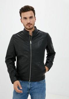 Куртка кожаная, Matinique, цвет: черный. Артикул: MA130EMJSJE4. Одежда / Верхняя одежда / Кожаные куртки