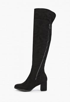 Ботфорты, Marco Tozzi, цвет: черный. Артикул: MA143AWFPPX6. Обувь / Сапоги / Ботфорты