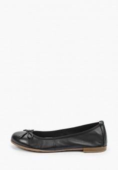 Балетки, Marco Tozzi, цвет: черный. Артикул: MA143AWHSYQ1. Обувь / Балетки