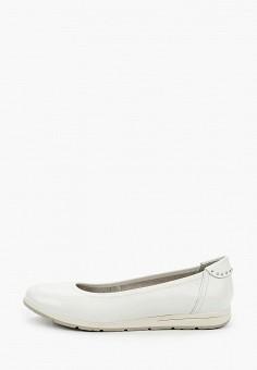 Балетки, Marco Tozzi, цвет: белый. Артикул: MA143AWHSYQ5. Обувь / Балетки