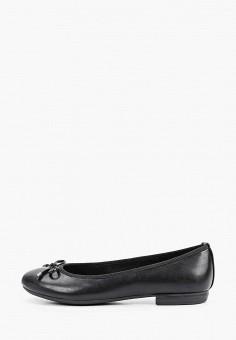 Балетки, Marco Tozzi, цвет: черный. Артикул: MA143AWHSYR0. Обувь / Балетки