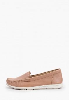 Мокасины, Marco Tozzi, цвет: розовый. Артикул: MA143AWHSYW4. Обувь / Мокасины и топсайдеры
