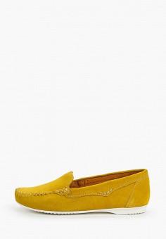 Мокасины, Marco Tozzi, цвет: желтый. Артикул: MA143AWHTDZ0. Обувь / Мокасины и топсайдеры