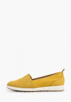 Слипоны, Marco Tozzi, цвет: желтый. Артикул: MA143AWHTDZ3. Обувь / Слипоны