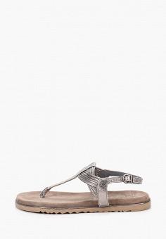 Сандалии, Marco Tozzi, цвет: серый. Артикул: MA143AWHTEE8. Обувь / Сандалии