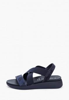 Сандалии, Marco Tozzi, цвет: синий. Артикул: MA143AWHTEM2. Обувь / Сандалии