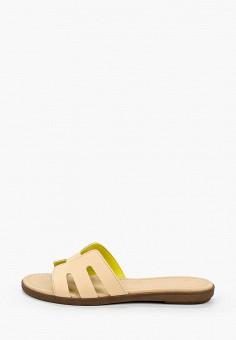 Сабо, Marco Tozzi, цвет: бежевый. Артикул: MA143AWHTES9. Обувь / Сабо и мюли
