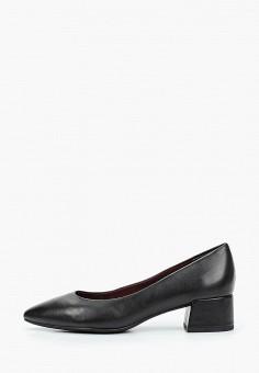 Туфли, Marco Tozzi, цвет: черный. Артикул: MA143AWKCGW4. Обувь / Туфли