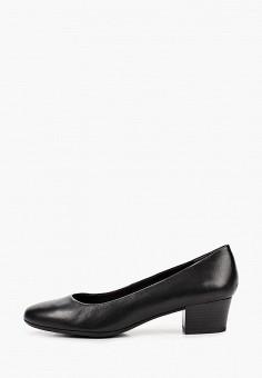 Туфли, Marco Tozzi, цвет: черный. Артикул: MA143AWKCGW6. Обувь / Туфли