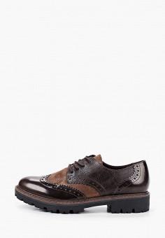 Ботинки, Marco Tozzi, цвет: коричневый. Артикул: MA143AWKCGZ7. Обувь / Ботинки