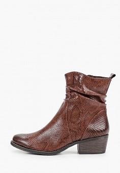 Полусапоги, Marco Tozzi, цвет: коричневый. Артикул: MA143AWKCHE9. Обувь / Сапоги / Полусапоги