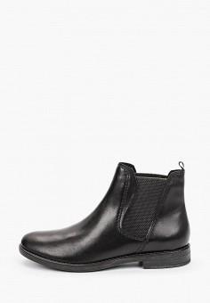 Ботинки, Marco Tozzi, цвет: черный. Артикул: MA143AWKCHF4. Обувь / Ботинки / Челси