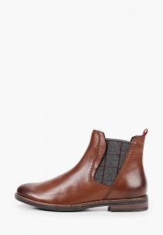 Ботинки, Marco Tozzi, цвет: коричневый. Артикул: MA143AWKCHF5. Обувь / Ботинки / Челси