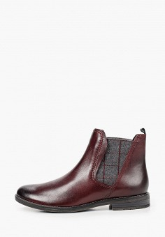 Ботинки, Marco Tozzi, цвет: коричневый. Артикул: MA143AWKCHF6. Обувь / Ботинки / Челси