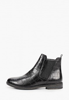 Ботинки, Marco Tozzi, цвет: черный. Артикул: MA143AWKCHF7. Обувь / Ботинки / Челси