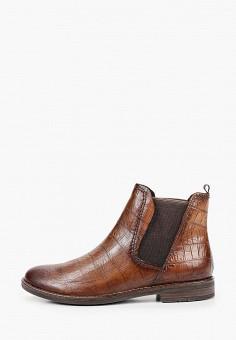 Ботинки, Marco Tozzi, цвет: коричневый. Артикул: MA143AWKCHF8. Обувь / Ботинки / Челси