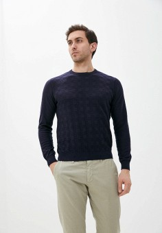 Джемпер, Malagrida, цвет: синий. Артикул: MA173EMJDVM3. Одежда / Джемперы, свитеры и кардиганы / Джемперы и пуловеры