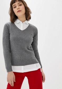 Пуловер, Manode, цвет: серый. Артикул: MA220EWHJRQ5. Одежда / Джемперы, свитеры и кардиганы / Джемперы и пуловеры