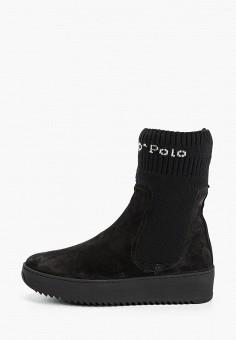 Полусапоги, Marc O'Polo, цвет: черный. Артикул: MA266AWGJOF4. Обувь / Сапоги / Полусапоги