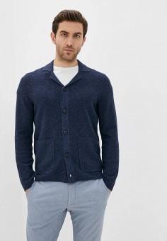 Кардиган, Marc O'Polo, цвет: синий. Артикул: MA266EMILPT5. Одежда / Джемперы, свитеры и кардиганы / Кардиганы