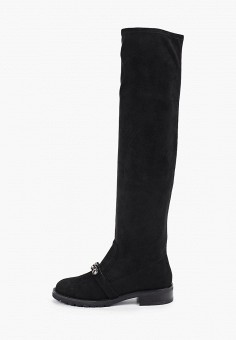 Ботфорты, Mallanee, цвет: черный. Артикул: MA382AWHEAN9. Обувь / Сапоги / Ботфорты