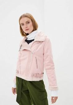 Дубленка, Mallanee, цвет: розовый. Артикул: MA382EWKBVI1. Одежда / Верхняя одежда / Шубы и дубленки