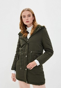 Куртка утепленная, Mallanee, цвет: хаки. Артикул: MA382EWKBVI4. Одежда / Верхняя одежда / Парки