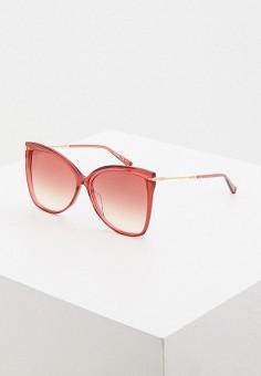 Очки солнцезащитные, Max Mara, цвет: розовый. Артикул: MA994DWIVEL7.