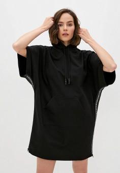 Платье, McQ Alexander McQueen, цвет: черный. Артикул: MC010EWJYAN7. Одежда / Платья и сарафаны