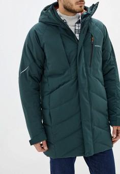 Пуховик, Merrell, цвет: зеленый. Артикул: ME215EMGGDE8. Одежда / Верхняя одежда / Пуховики и зимние куртки / Пуховики