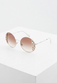 Очки солнцезащитные, Miu Miu, цвет: серебряный. Артикул: MI007DWIUFU0. Premium