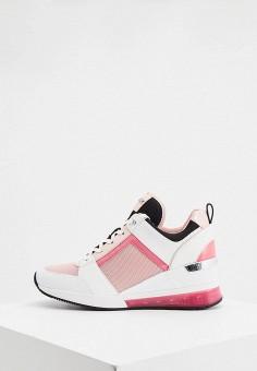 Кроссовки, Michael Michael Kors, цвет: розовый. Артикул: MI048AWJCGB5.