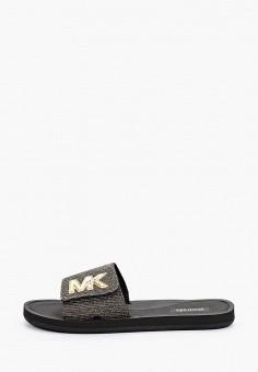 Сланцы, Michael Michael Kors, цвет: черный. Артикул: MI048AWJDPS5.