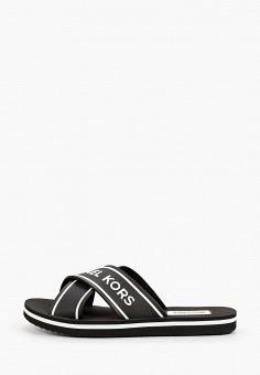 Сланцы, Michael Michael Kors, цвет: черный. Артикул: MI048AWJDPV0. Обувь / Резиновая обувь