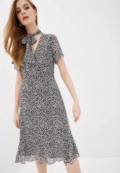 Платье, Michael Michael Kors, цвет: черный. Артикул: MI048EWHINE7.