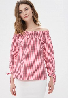 Блуза, Miss Miss by Valentina, цвет: розовый. Артикул: MI059EWATGE9. Одежда / Блузы и рубашки