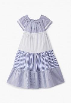 Платье, Miss Blumarine, цвет: голубой. Артикул: MI108EGJEXF6. Девочкам / Одежда / Платья и сарафаны